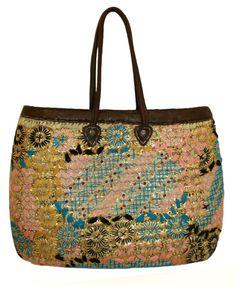 Moroccan Straw Lined Handbag HB002A - Badia Design Inc Store