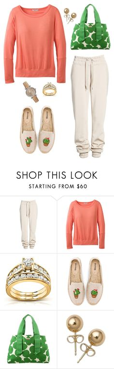 """""""Untitled #1572"""" by shemomjojo ❤ liked on Polyvore featuring Ivy Park, prAna, Kobelli, Soludos, Kate Spade and Bling Jewelry"""