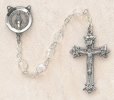 $28.74 + $9.25 shipping - Heritage Italian Catholic Crystal (April) Czech Birthstone Rosary Silver Oxidized 5mm Crystal Bead 1¼ Crucifix by Creed Jewelry, http://www.amazon.com/dp/B00CR04DU4/ref=cm_sw_r_pi_dp_BEmKrb09KDYWY