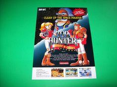 Neo Geo SNK TOP HUNTER Original 1994 NOS Video Arcade Game Promo Sales Flyer #1 #NeoGeoTopHunter