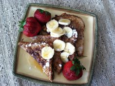 French Toast for only 5 Weight Watcher PointsPlus. Weight Watchers Points Plus, Weight Watchers Breakfast, Healthy Breakfasts, Healthy Meals, Healthy Recipes, Ww Recipes, Low Calorie Recipes, Meal Ideas