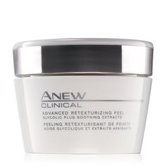 Anew Clinical Retexturizing Peel. Avon. Face Peel Have you ever wanted the spa treatment with the ease of staying at home? Anew Clinical Advanced Retexturizing PeelThe Anew Clinical Advanced Retexturzing Peel has shown superior results to a professional 35% glycolic peel and can be added as a part of your weekly skin care routine. Reg. $22. Shop online with FREE shipping with any $40 online Avon purchase. #Avon #C9 #CJTeam #Sale #Anew #SkinCare #New Shop Avon Skin Care online…