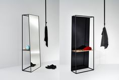 MaDe Design has created the Chassis mirrors for DEKNUDT.Unlike the usual flat mirrors, Chassis have more volume and provides room to place personal objects