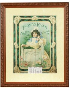 Thomas Ryan Sparkling Ale Calendar - 1900