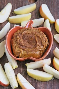 Pumpkin Peanut Butter Dip Recipe -3/4 cup organic pumpkin puree, 3/4 cup organic peanut butter, 2 teaspoons raw honey, 1/2 teaspoon vanilla extract, 1/2 teaspoon pumpkin pie spice mix, 3-4 organic apples, sliced - Place pureed pumpkin, peanut butter, honey, vanilla and spice mix in food processor and process until blended. Serve with sliced apples.
