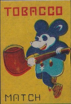 Arnon Reisman - A Phillumenist: Just another cute set of Japanese animals (and Mickey Mouse) TOBACCO MATCH labels which were sold on the internet on the other day...(not mine unfortunatly) Vintage Comic Books, Vintage Cartoon, Comic Books Art, Japanese Illustration, Illustration Art, Vintage Japanese, Japanese Art, Japanese Animals, Vintage Flash
