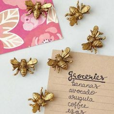 Pewter Bee Magnets from Stonewall Kitchen #kitchendecor #quirkyhomedecor