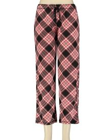 Printed Knit Pajama Pants - Whether lounging or sleeping soundly, you'll enjoy style and comfort in these cotton-blend pajama bottoms featuring a fun print and a classic capri length.