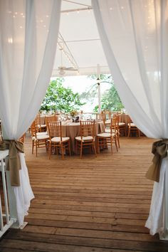 Southern Weddings Magazine I love the natural wood chairs