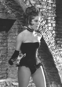 The Avengers Emma Peel in dominatrix costume with spiked fetish collar The Avengers, Classic Actresses, Actors & Actresses, Tina Turner Costume, Diana Riggs, Dame Diana Rigg, Blake Lovely, Emma Peel, Hottest Female Celebrities