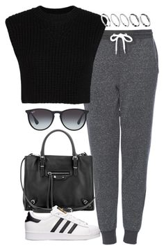 """Untitled #4458"" by eleanorsclosettt ❤ liked on Polyvore featuring Topshop, Neil Barrett, Balenciaga, adidas, Ray-Ban and ASOS"