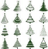 Christmas Tree royalty free vector Illustration Collection