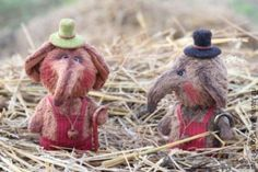 Слоники Роб иТоб - коричневый, авторская игрушка, игрушка ручной работы, слоники тедди