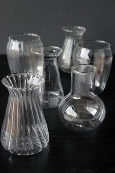 Set of 6 Little Glass Vases