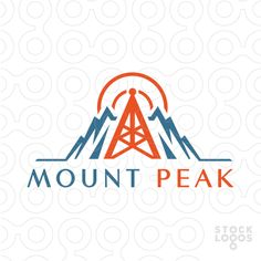 Mountain and radio communication tower combined together.
