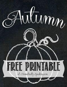 Free Chalkboard Autumn Pumpin Printable