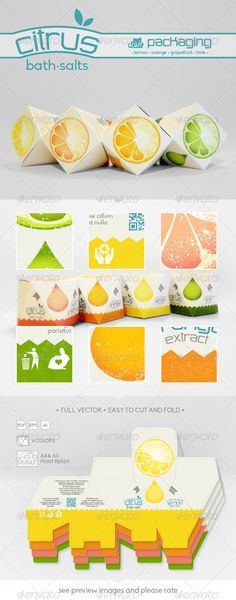 Citrus Bath Salts Packaging Template Vector EPS, AI. Download here: http://graphicriver.net/item/citrus-bath-salts-packaging/6603796?ref=ksioks