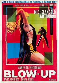 Blow-up poster for the release of the movie in Italy in 1967.
