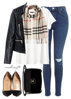 Goodbye November by avonsblessing94 on Polyvore featuring polyvore fashion style H&M Balmain Christian Louboutin Chanel Burberry clothing