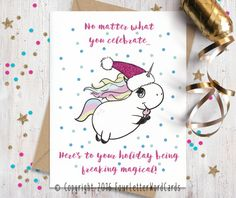 Funny Christmas Card Funny Holiday Card by FourLetterWordCards