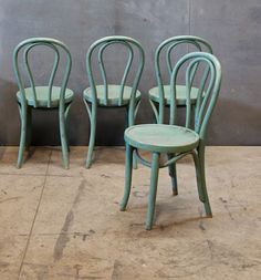 Turquoise chairs.