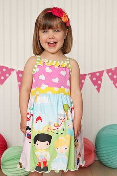 Cinderella Tank Dress to by Bridgetandcompany on Etsy Tank Dress, Dress Skirt, Custom Printed Fabric, Top Pattern, Sewing For Kids, Simple Dresses, Knit Patterns, Boutique Dresses, Knitted Fabric