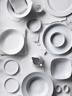 simple and classic white ceramics are a necessity for every kitchen.