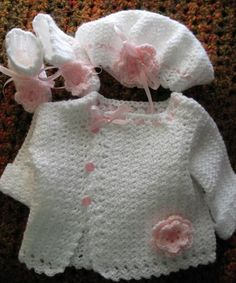Baby Girl Sweater Set MADE TO ORDER Baby Girl by OohAahBaby