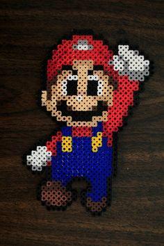 Mario perler beads by PkmnMasterTash on deviantART