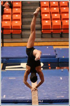 Kristina Baskett, Utah -- OSU vs. Utah gymnastics meet 1/30/09 gymnast balance beam #KyFun