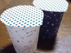 折り紙で作った蓋もカワイイ!