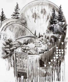 Beautiful sumi ink paintings by artist and teacher Gregory Euclide. He painted these on a whiteboard during his lunch break before wiping them clean (hard to watch that part).