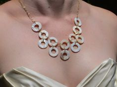 Beach Gold Necklace. Beautiful bib necklace. Perfect for a beach wedding. $80