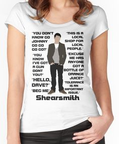 'Reece Shearsmith' Fitted Scoop T-Shirt by tothebarricades Inside No 9, Reece Shearsmith, Neck T Shirt, Shirt Designs, Fandoms, T Shirts For Women, Fitness, Fabric, How To Wear