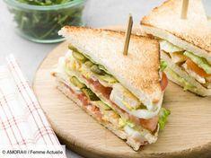 Découvrez la recette de Club sandwich royal au poulet avec Femme Actuelle Le MAG
