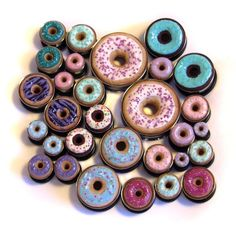 Not sure how big I wanna stretch my ears, but I at least want them big enough to wear cool/fun stuff like this!~Custom 8g donut hole plugs