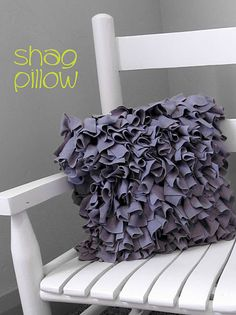 diy shag pillow http://craftaphile.blogspot.com/2011/06/create-with-me-project-and-thrift-find.html