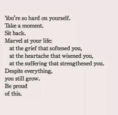 Marvel at the life you've lived!