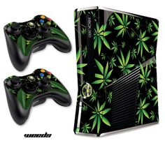Designer Skin for XBOX SLIM System & Remote Controllers -Weeds - Black 360 - http://www.psbeyond.com/view/designer-skin-for-xbox-slim-system-remote-controllers-weeds-black-360 - http://ecx.images-amazon.com/images/I/51qI-Xrm1eL.jpg