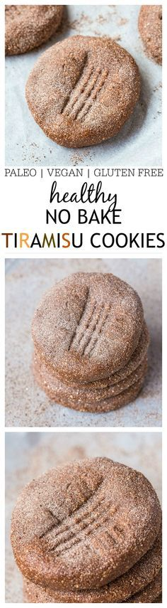 No Bake Tiramisu Cookies- Soft, chewy and just like fudge, these are a sinfully nutritious snack between meals or even breakfast! Refrigeration optional! {vegan, gluten free, paleo option} - thebigmansworld.com