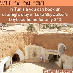 Tunisia's Luke Skywalker's boyhood home - WTF fun facts: HERE I COME!<<<If I ever happen to be in Tunisia, I am doing that Oh The Places You'll Go, Cool Places To Visit, Places To Travel, Travel Destinations, Wtf Fun Facts, Random Facts, Foto Pose, I Want To Travel, To Infinity And Beyond