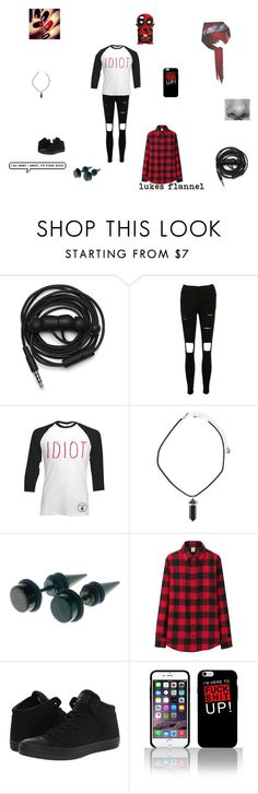 """idiot 2"" by xxpiercetjessxx on Polyvore featuring Urbanears, Uniqlo, Converse, women's clothing, women, female, woman, misses and juniors"