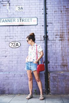 Painted_Shirt-Levis_Shorts-Birks-outfit-London-Street_Style-