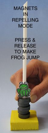 Toys from Trash - magnetic jumping frog
