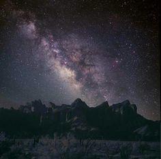New Mexico desert night sky
