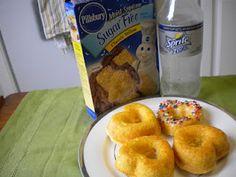 TWO ingredient sugar-free cake doughnuts!