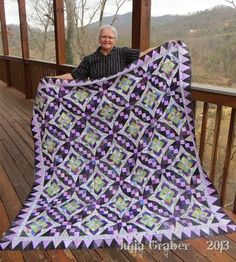 Celtic Solstice mystery quilt | she chose her colors well ~