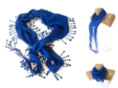 Mothers Day Gift  Royal Blue Pashmina Scarf with by scarvesCHIC, $15.00