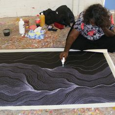 Aboriginal Art Painting by Anna Petyarre (Pitjare) My Country - Aboriginal Painting, Aboriginal Artists, Dot Painting, Repetition Art, Australian Art, Indigenous Art, Mandala Coloring, Art Studios, Online Art