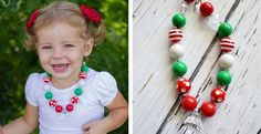 Girls Christmas Necklace